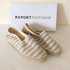 Report Footwear Limone Natural Flats Size 8
