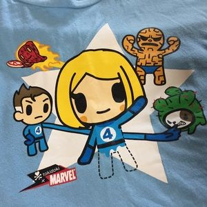 tokidoki Tops - Fantastic Four x Bastardino tokidoki tee
