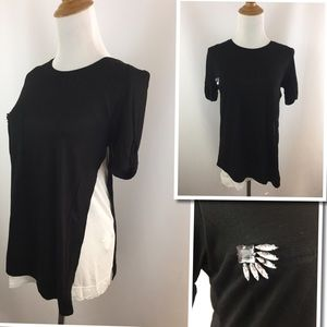 New w tag ZARA W&B Combo Shirt