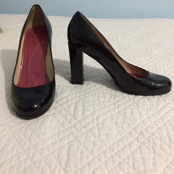 33eeb8866d3 kate spade Shoes - Kate spade chunky heel black patent pumps 6