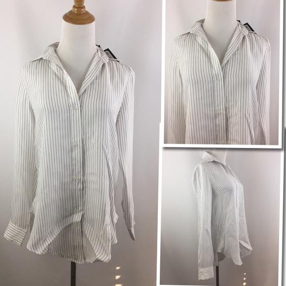 4b7c131b45168 New w tag ZARA Woman Mulberry Silk Button Shirt