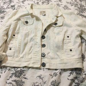 Highway Jeans Jackets & Blazers - White crop jacket
