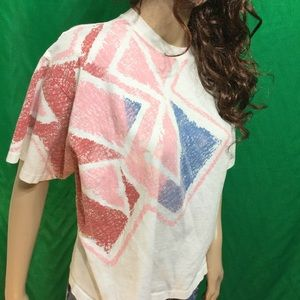 vintage LE COQ SPORTIF 80's t shirt New Wave