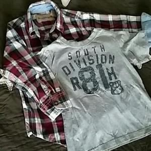 Other - 4T Button Up and TShirt Bundle