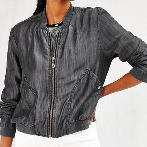 Urban Outfitters grey bomber jacket