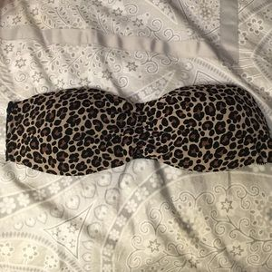 Other - Animal print lace bandeaus