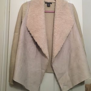 Faux suede/ shearling jacket
