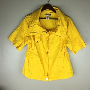 Route 66 Jackets & Blazers - ROUTE 66 Yellow Jacket 🐝 High Collar Size L