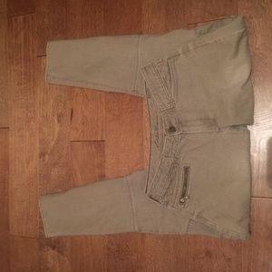 Modern Fit, Slim Leg Cargo Tan Jeans