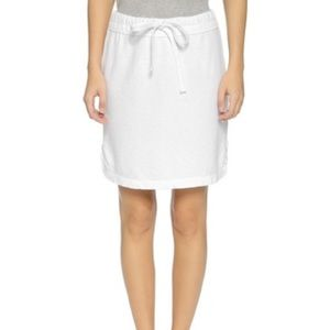James Perse white tennis skirt