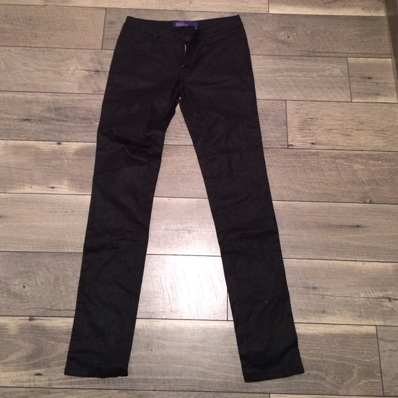 Miley Cyrus coated black pants size 7 new 7 from Hello's closet on ...