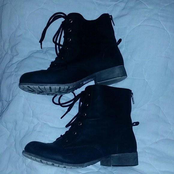 78% off Maurices Shoes - Maurice's stylish black combat boots from ...