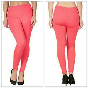 PEACH FLEECED LINED LEGGINGS NEW