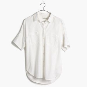 Madewell Tops - Madewell White Cotton Courier Shirt