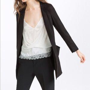 Suede effect frock coat -- Zara large