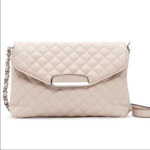 WILA Handbags - HOLD! Quilted cream vegan leather bag purse
