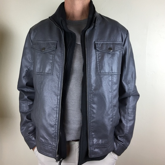 9a979cd8fc4 Kenneth Cole Reaction Other - Kenneth Cole Reaction men's faux leather  jacket
