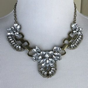 Large crystal statement necklace