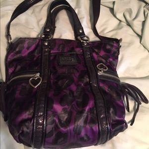 Handbags - Coach ocelot print purse