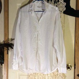 Onia  Tops - Semi sheer white button up shirt