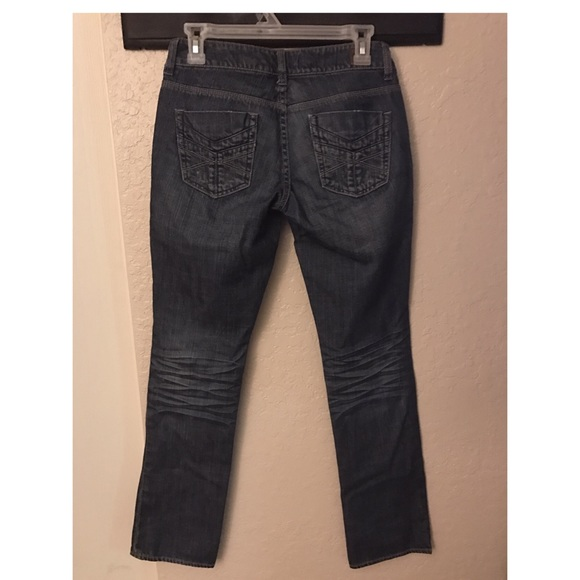American Eagle Outfitters - Distressed Dark Blue Jeans from ...