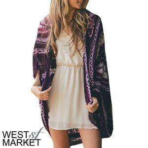 West Market SF Tops - -NEW ARRIVAL-🎉 The Gigi Kimono in Burgundy