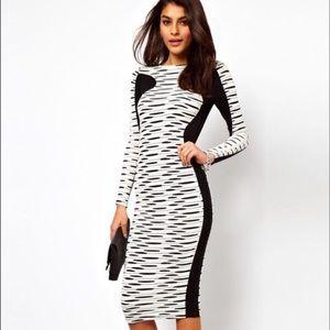 Asos Bodycon Black & White dress