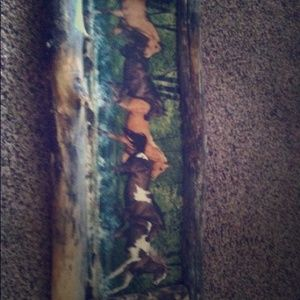 Wood Wood Other - Wood horse hang up picture