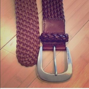 Michael Kors brown braided leather belt small