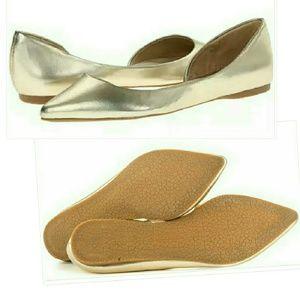 Steve Madden Shoes - Steve Madden Elusion Dusty Gold D'orsay Flat Shoes