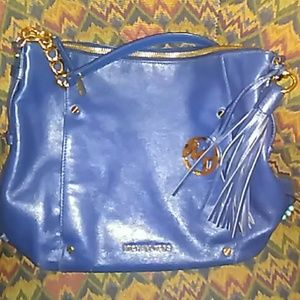 Navy Blue Devon Michael Kors Purse