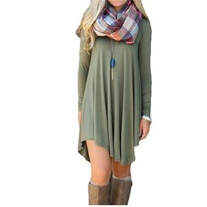 💚S to XL Green dress top loose fit