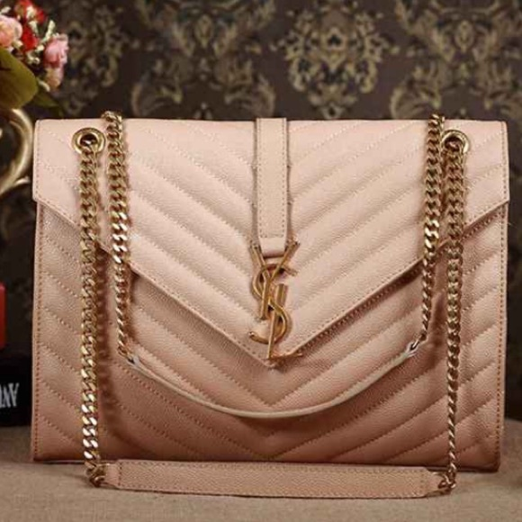 30a9134529 YSL Large Monogram Grained Leather Shoulder Bag. M 5812026a620ff79f800026d6