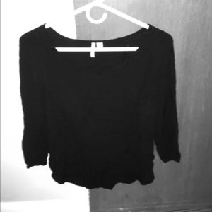 3/4 tunic black top