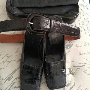 Ralph Lauren Croc Leather Belt