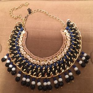 Macrame Bib Necklace from South America