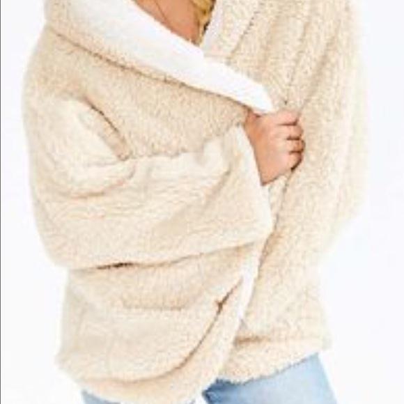 Urban Outfitters Jackets Coats Sherpa Fleece Hooded Teddy Bear