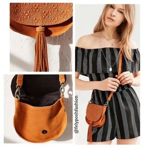 Urban Outfitters Ecote Leanne Suede Saddle Bag