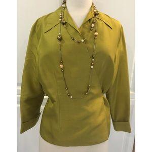 Ice Tops - Rich, silk wraparound blouse, NWOT