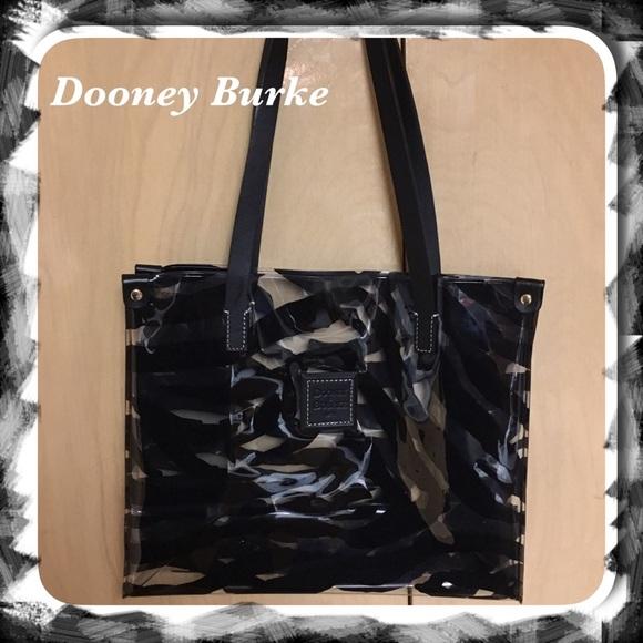 17074edb0c13 ... Tote Bag. Dooney & Bourke Handbags - 🗣Dooney & Bourke Clear Vinyl  Zebra Print ...