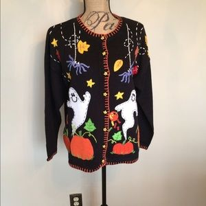 Tiara Sweaters - 👻Tiara Halloween cardigan w/ elaborate trim🎃
