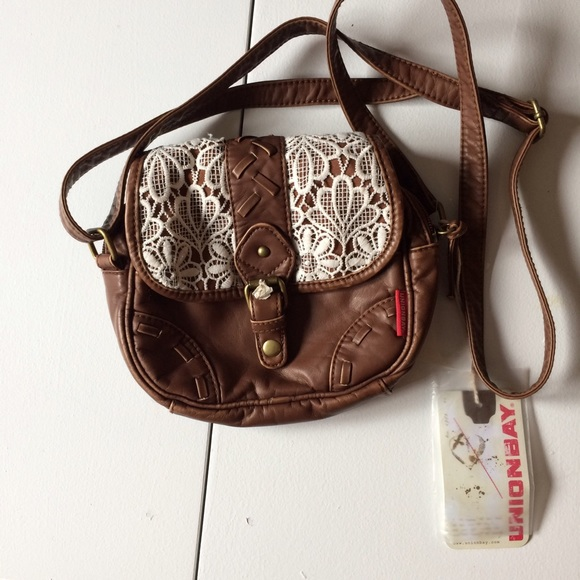 70% Off UNIONBAY Handbags - NEW Brown Faux Leather Lace Detail Crossbody Bag From ! Rubysbeauty ...