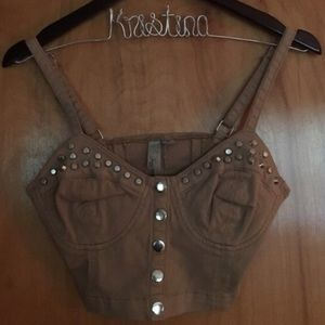 ❗️SALE! Forever21 Exclusive studded bralet croptop