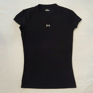 Under Armour Black Tech Fitted Tee, Size M