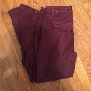 Loft cranbury ankle pants with ankle zipper accent