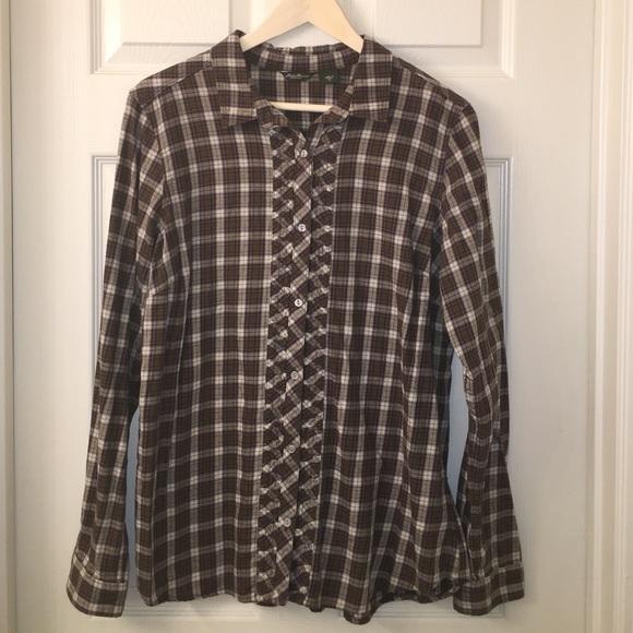 89 off eddie bauer tops eddie bauer ladies soft flannel for Ladies soft flannel shirts