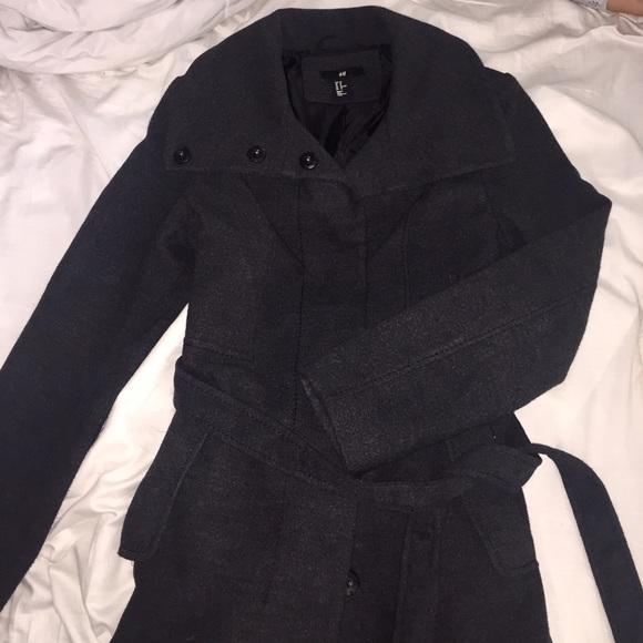 a8ea1acf0 » P « H&M Funnel Neck Coat 💝