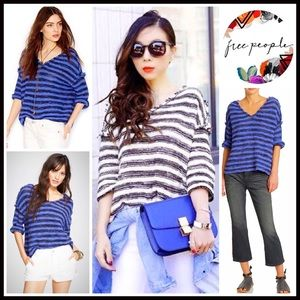 ❗1-HOUR SALE❗FREE PEOPLE Sweater Striped Pullover
