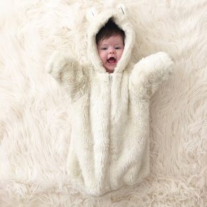 Restoration Hardware Other - Restoration Hardware Baby Faux Fur Bunting