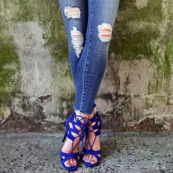 elige el más nuevo suave y ligero los Angeles Steve Madden Shoes | Maiden Cobalt Blue Suede Heels | Poshmark